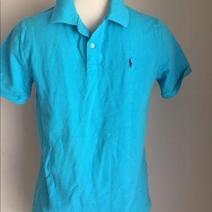 Boys Ralph Lauren polo shirt L(14/16) Aqua blue